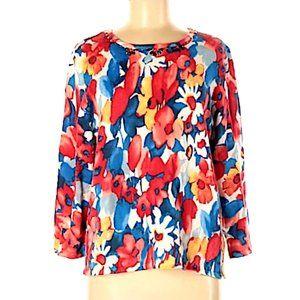 Size Medium Light Floral  Pullover Sweater